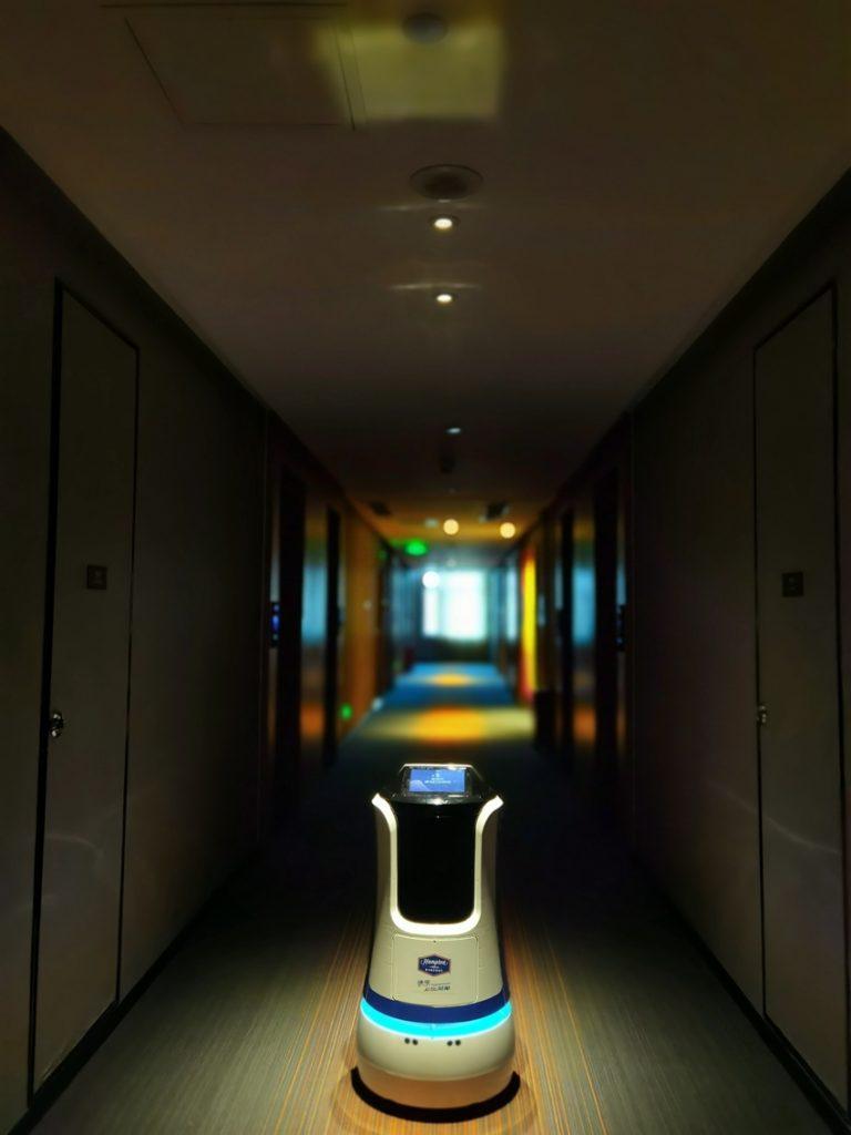 河北沧州希尔顿欢朋酒店机器人应用